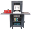 Computer Cabinet,W67,D36,2 Side Shelves -- 5HZR7