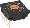 Switch, DIP Rotary, BINARY CODED, SCREWDRIVER Actuator, REAL, DEC, STRAIGHT PC -- 70192264 - Image