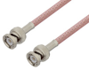 BNC Male to BNC Male Cable 12 Inch Length Using RG303 Coax -- PE3W00393-12 -Image