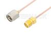 SMA Male to SMA Female Cable 24 Inch Length Using PE-047SR Coax -- PE3188-24 -Image