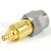 2.4mm Male (Plug) to Mini SMP Female (Jack) Push-On Adapter, Passivated Stainless Steel Body, 1.25 VSWR -- SM8934 - Image