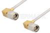 SMA Male Right Angle to SMA Male Right Angle Cable 36 Inch Length Using PE-SR405AL Coax -- PE34213-36 -Image