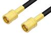 75 Ohm SMB Plug to 75 Ohm SMB Plug Cable 72 Inch Length Using 75 Ohm PE-B150 Coax -- PE3112-72 -- View Larger Image