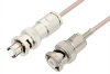 MHV Male to SHV Plug Cable 36 Inch Length Using RG316 Coax, RoHS -- PE34417LF-36 -Image