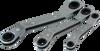 3 Pieces 6 pt SAE 25° Offset Ratcheting Box Wrench Set -- 5203LR - Image