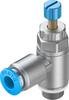 One-way flow control valve -- GRLA-1/8-QS-6-RS-D -Image