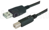 USB Cable Assembly, Latching A / Standard B 5m -- CAUALB-5M