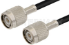 TNC Male to TNC Male Cable 60 Inch Length Using RG8X Coax -- PE35671-60 -Image