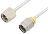 SMA Male to 2.4mm Male Cable 12 Inch Length Using PE-SR405FL Coax -- PE35670-12 -Image