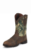 Women's Rugged Chocolate Boot - GSL9020 -- JUSTIN-GSL9020 -- View Larger Image