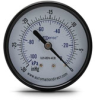-30 to 0 inch Hg Vacuum Pressure Gauge with 2.5 inch mechanical dial -- G25-BDV-4CB - Image