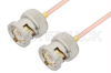 BNC Male to BNC Male Cable 6 Inch Length Using RG405 Coax -- PE3678-6