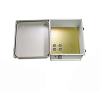 14x12x07 UL Listed Fiberglass Reinf Polyester FRP Weatherproof Outdoor IP66 NEMA 4 Enclosure, Modified Base Drilled Mount Gray -- TEF141207-01-UL -Image
