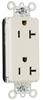 Pass & Seymour® -- PlugTail™ Decorator Spec Grade Receptacle - PT26352W
