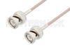 BNC Male to BNC Male Cable 12 Inch Length Using RG316 Coax -- PE3C2416-12 -Image