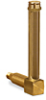 "Vented Long Elbow Brass Liquid Level Gage, 4 13/32"" Sight Opening, 5/8"" Diameter Glass, 1/4"" Male NPT Mounting Thread -- B1150-1"