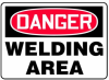 Danger Welding Area Sign -- SGN937