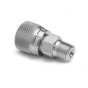 "1/4"" male NPT x female Quick-test, no check-valve, S.S. -- QTHA-2MSA -- View Larger Image"