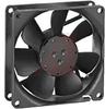 Fan, Axial; 80 mm; 25 mm; 12 VDC; 34.1 CFM; 26 dBA; Leadwire; Sintec Sleeve; DC -- 70104751