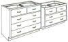 Standard Steel Laboratory Cabinet, (2) Drawers & (_) Wide Drawers -- 050 Series - Image