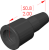 Straight Boot Insulator -- 18004 -- View Larger Image