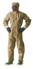 Hooded Coverall,Tan,XL,PK6 -- 6LY73