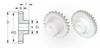 Flexirack Pinions (metric) -- A 1M 2MYHF08032 - Image