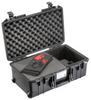 Pelican 1535 Air Case with Foam and TrekPak Divider - Black | SPECIAL PRICE IN CART -- PEL-015350-0151-110 - Image