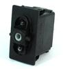 Carling Technologies V6D1D66B-00000-000 2-Light, SPDT, On-Off-On, 12V/20A Rocker Switch -- 44306 - Image