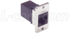 Cat6 RJ45 Coupler Unshielded (8x8) Panel Mount Style -- ECF504-C6