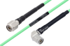Temperature Conditioned TNC Male to TNC Male Right Angle Low Loss Cable 48 Inch Length Using PE-P142LL Coax -- PE3M0161-48 -Image