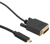 USB C to DVI Cable Assembly, 3M -- VIA00002-3M -Image
