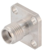 2.92mm Female (Jack) Connector Field Replaceable 4 Hole Flange (Panel Mount), .340 inch Hole Spacing 0.012 inch Pin with Metal Contact Ring
