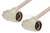 N Male Right Angle to N Male Right Angle Cable 48 Inch Length Using RG316 Coax -- PE34236-48 -Image