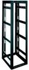 [MID ATL] DEEP GANGABLE RACK WITH REAR DOOR, BLACK -- 50-70548-44