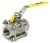 3 Piece Ball Valve,SS,3/4 In,FNPT -- 3CFV2