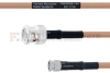 BNC Male to SMA Male MIL-DTL-17 Cable M17/128-RG400 Coax in 12 Inch -- FMHR0061-12 -Image