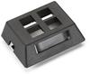 GigaBase2 Modular Furniture Faceplate, 4-Port, Black -- WPT471-MF -Image