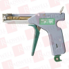 PANDUIT GS4H121W ( (PRICE/PC) THE CABLE TIE TOOL IN GREEN (TRIGGER HANDLE AND SELECTOR KNOB) AND GRAY (METAL HOUSING) INSTALLS STANDARD, HEAVY-STANDARD, LIGHT-HEAVY, AND HEAVY CROSS-SECTION CABLE T... -Image