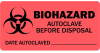Biohazard Autoclave Before Disposal Medical Label Red -- LV-MBH5
