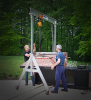 Aluminum Portable A Series Gantry -- 2ALU1212B-N -- View Larger Image
