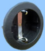 Round Continental European Snap-in Socket; Black -- 88011021 -Image