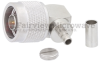 RA N Male Connector Crimp/Solder Attachment For LMR-200 Cable -- SC9188 -Image