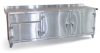Stainless Steel Countertop Cabinet with Multi-Storage -- 93-WB-303-1DBSS