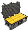 Pelican 1615 Air Case with Yellow Padded Dividers - Black | SPECIAL PRICE IN CART -- PEL-016150-0040-110 - Image