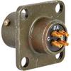 connector,metal circ,class e,box mount recept,size 8,4 #20 solder pin contact -- 70052496