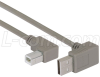 Right Angle USB cable, Up Angle A Male/ Left Angle B Male, 0.5m -- CA90UA-90LB-05M -Image