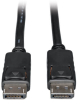 DisplayPort Cable with Latches (M/M), 4K x 2K 3840 x 2160 @ 60Hz, 3-ft. -- P580-003 -- View Larger Image