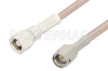 SMA Male to SMC Plug Cable 12 Inch Length Using RG316-DS Coax, RoHS -- PE34456LF-12 -Image