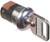 Switch, Keylock; SP; 250VAC; 2A; Keypull POS 1; Solder lug -- 70128601 - Image